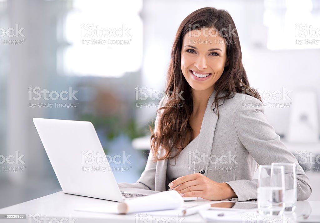 She's made it! stock photo