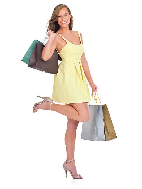 sie ist die am meisten eine großartige sale - kleider günstig kaufen stock-fotos und bilder