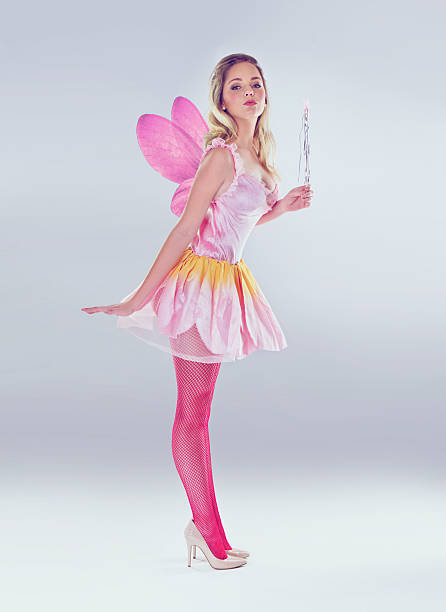 she's magic! - fairy wand stock photos and pictures