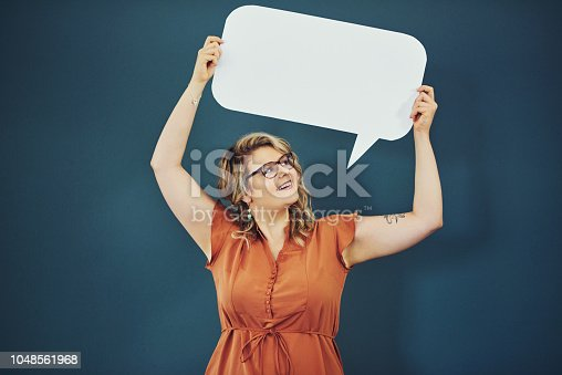 istock She's never afraid to speak out 1048561968