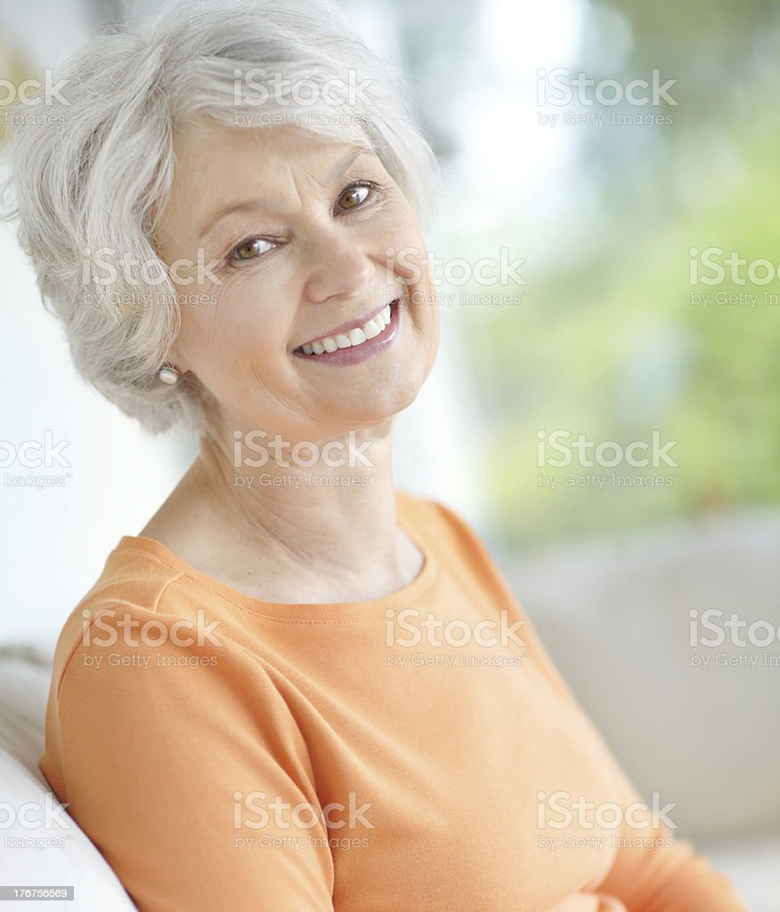 She's never been happier stock photo