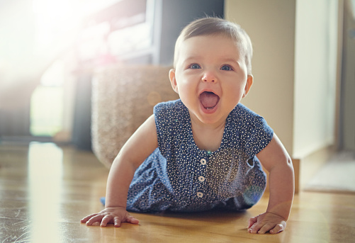 Shot of an adorable baby crawling on the living room floorhttp://195.154.178.81/DATA/i_collage/pu/shoots/805468.jpg