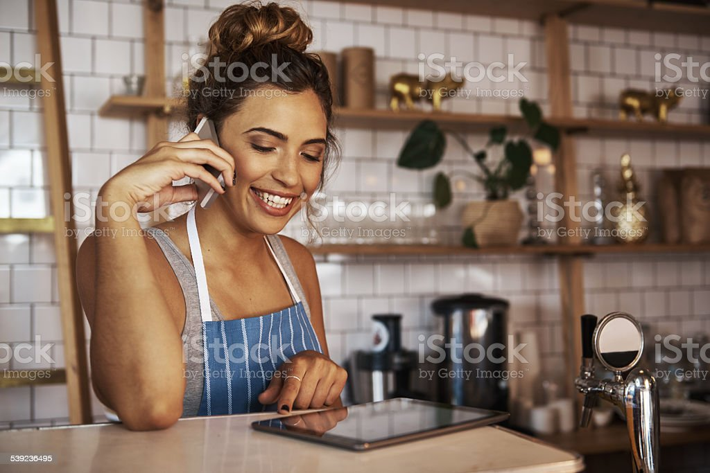 She's on top of all the business admin royalty-free stock photo
