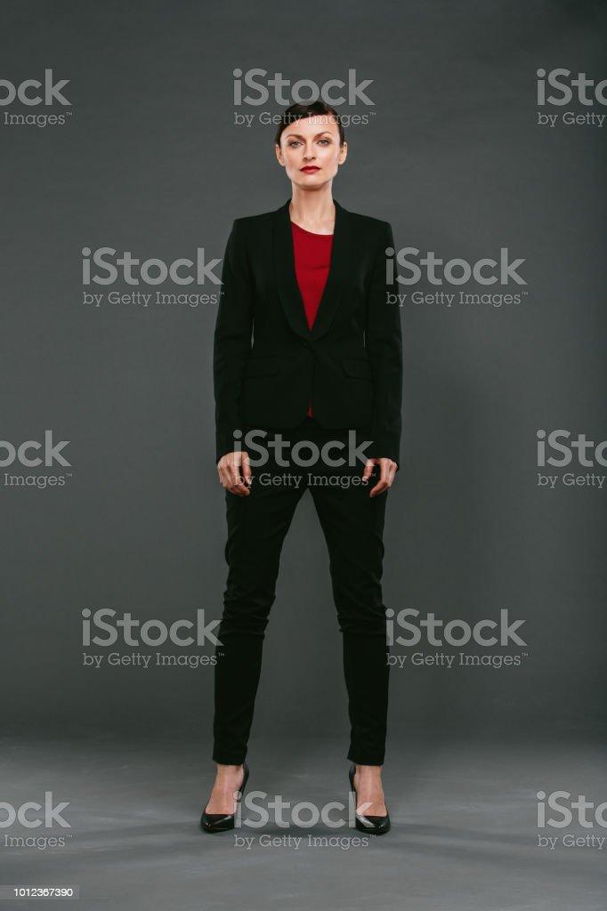She's one badass businesswoman stock photo