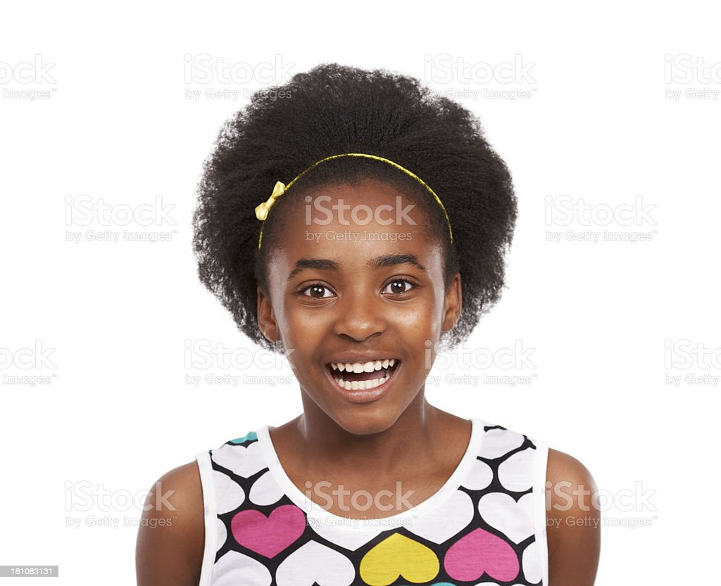 She's one enthusiastic kid! royalty-free stock photo