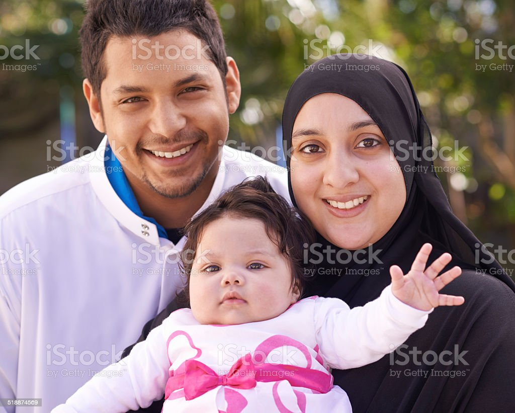 She's our special little one stock photo