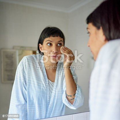 istock She's perfected her morning routine 617385966