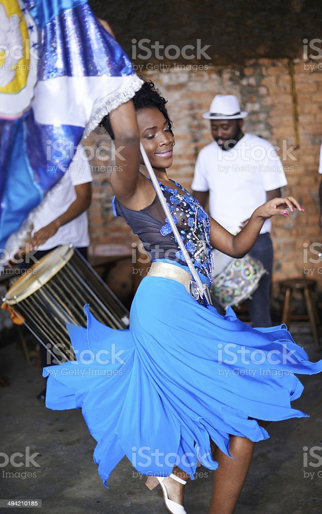 She's putting on quite the show royalty-free stock photo