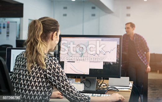 istock She's putting their startup on the map 537266790