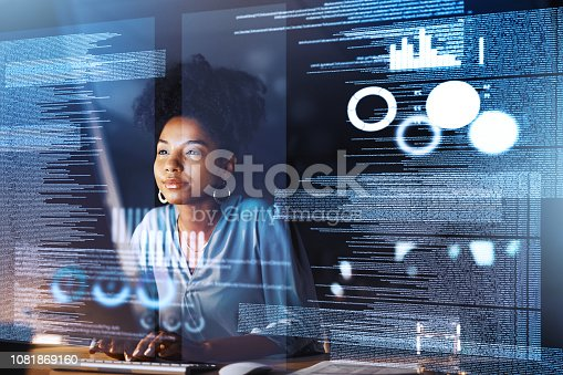 istock She's quite familiar with the advanced world 1081869160