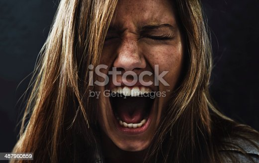 istock She's reached the end of her rope! 487960859