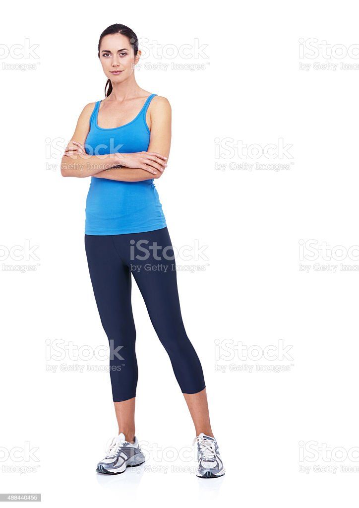 She's ready for an intense workout stock photo