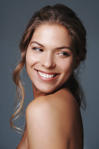 She's simply radiant! stock photo