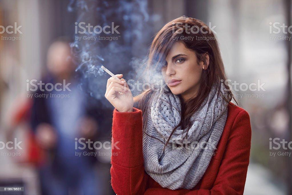 She's smoking hot! stock photo