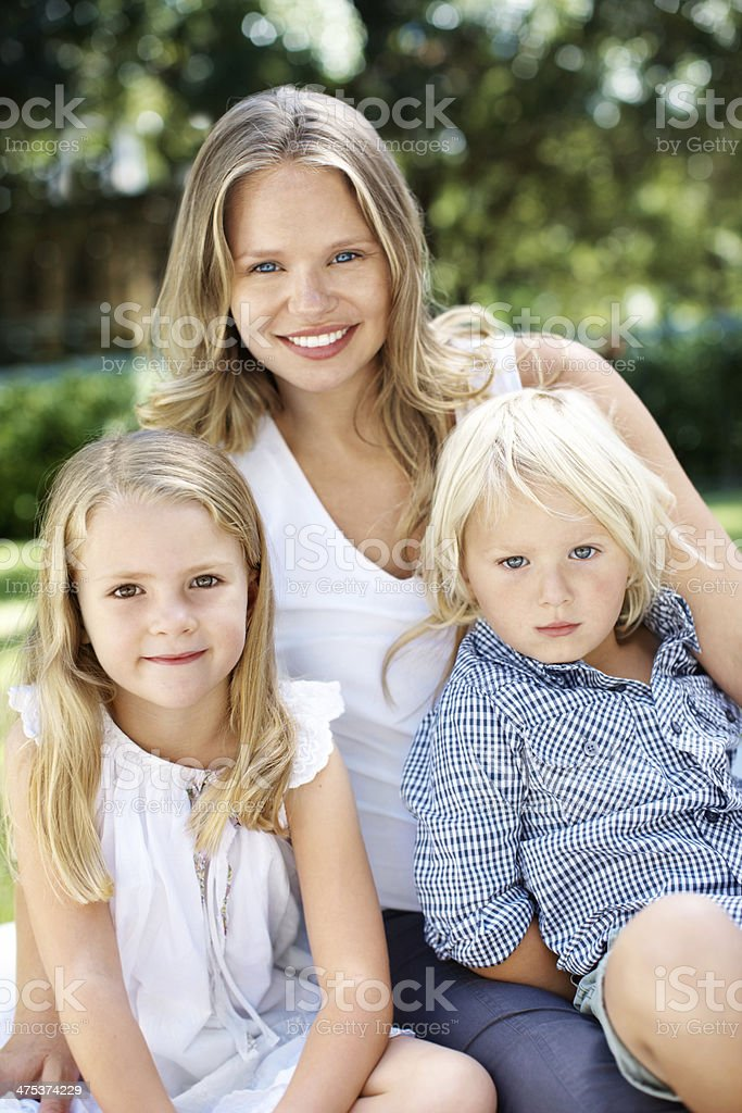 She's such a loving mother! royalty-free stock photo