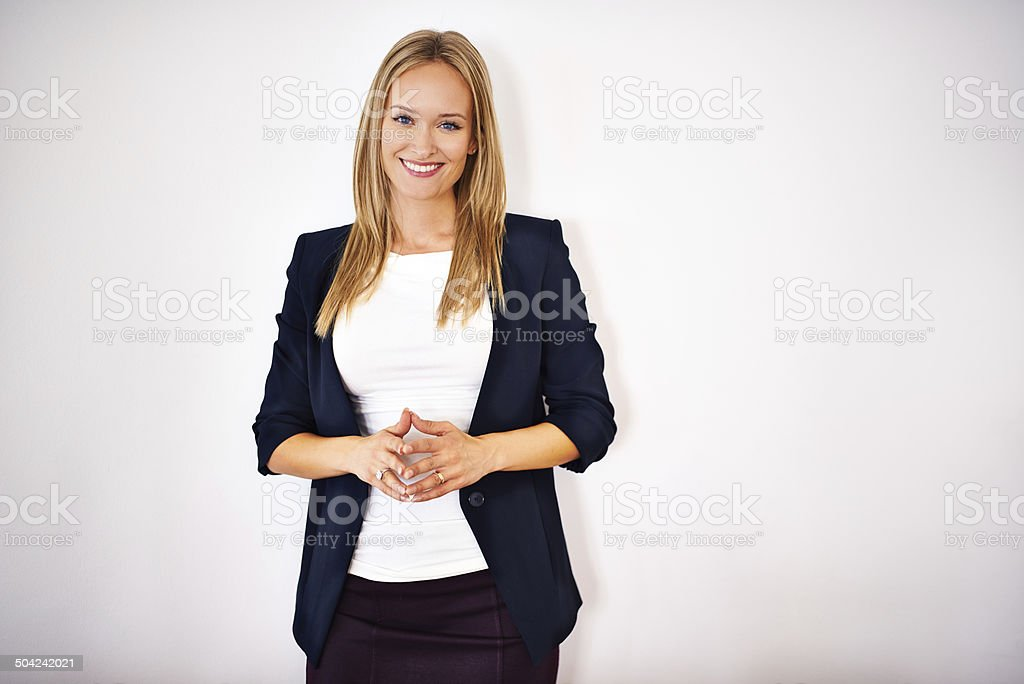She's the consummate professional stock photo