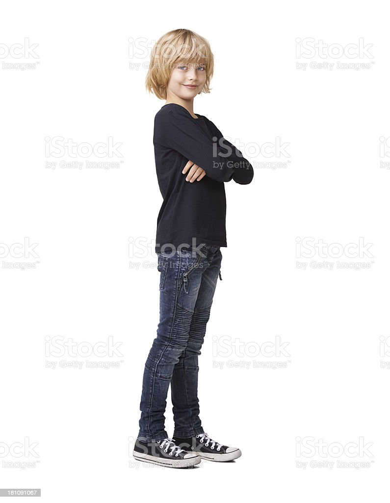 She's the cool and confident stock photo