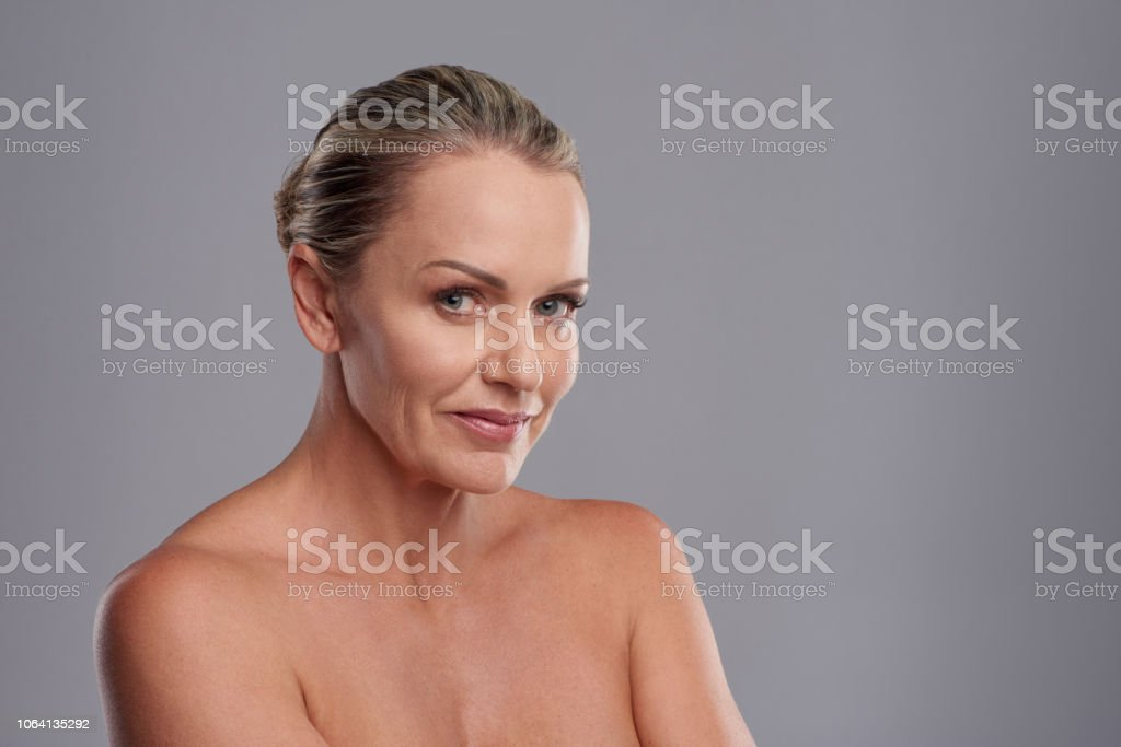She's the epitome of ageless beauty stock photo