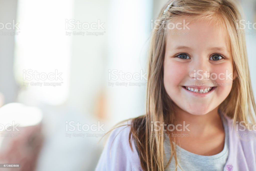 She's the happiest girl in the world - foto stock