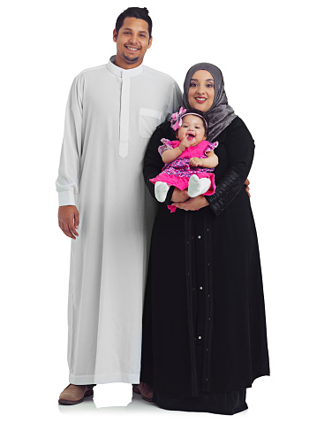 Studio portrait of a happy young muslim family isolated on whitehttp://195.154.178.81/DATA/shoots/ic_784902.jpg