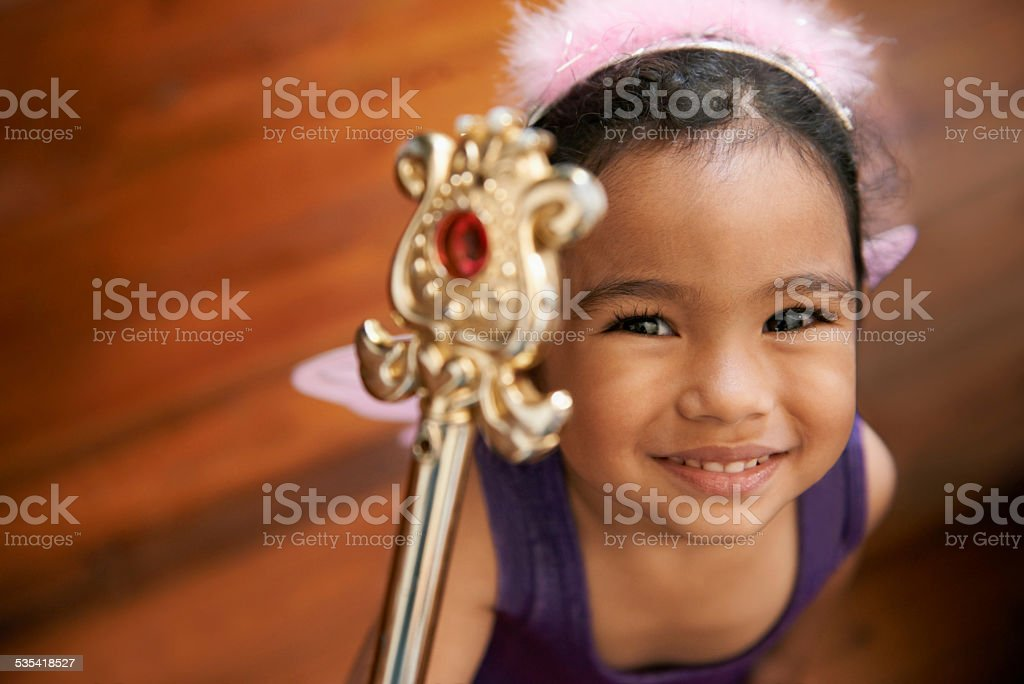 She's the queen of her destiny stock photo