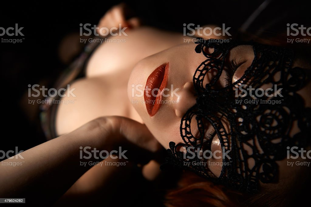 She's the woman you find in your dreams stock photo