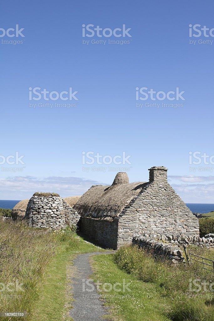 Shetland Crofthouse stock photo