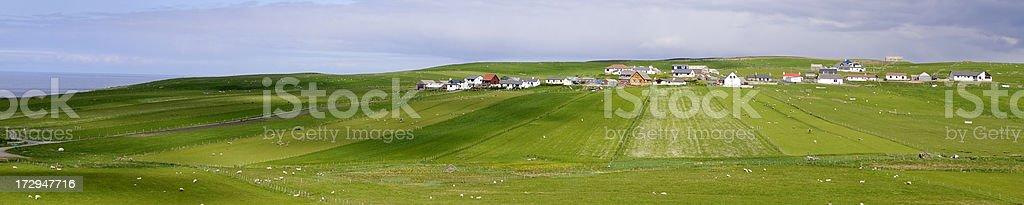 Shetland Crofting Community Panorama royalty-free stock photo