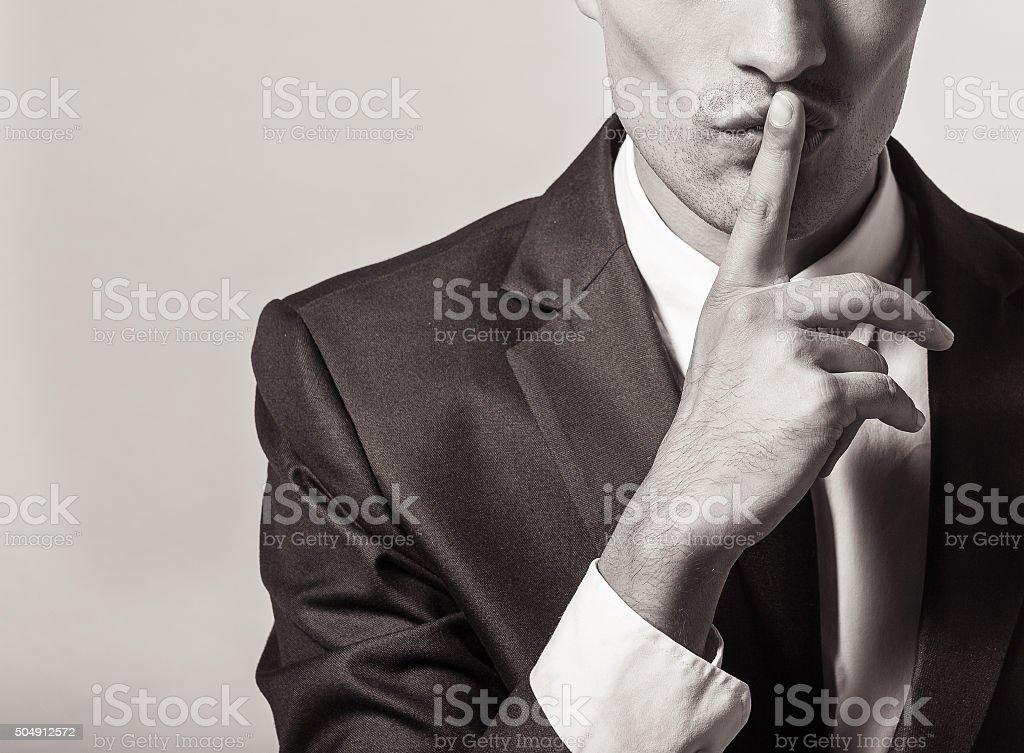 Shhh! stock photo