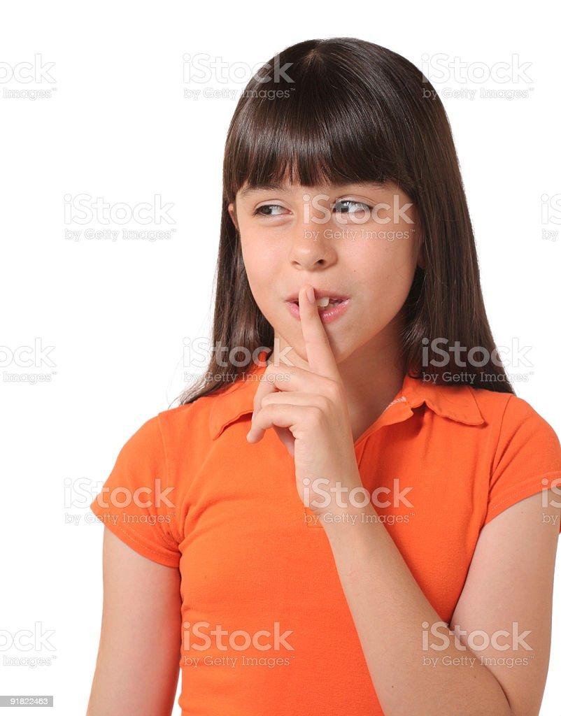 Shhh... royalty-free stock photo