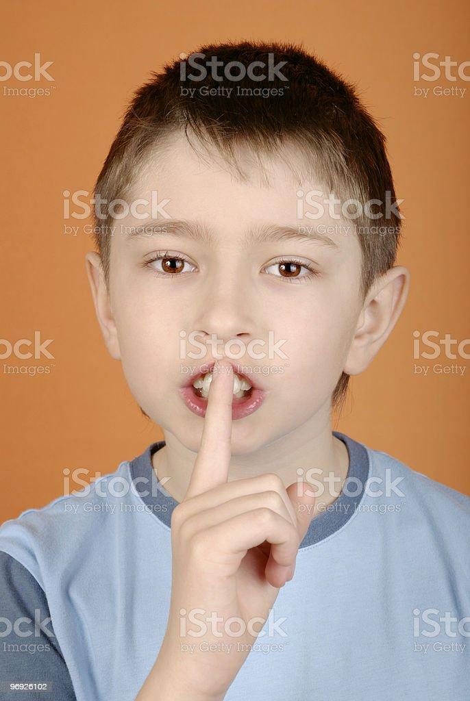 Shhh! royalty-free stock photo