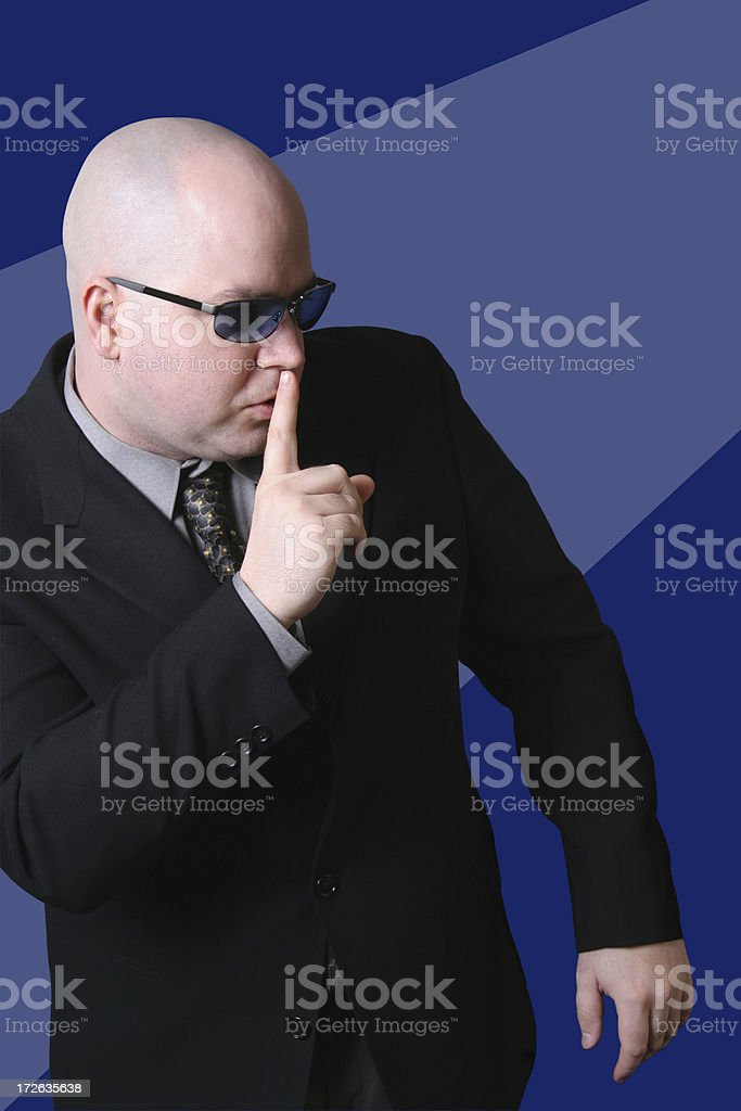 Shhhh! stock photo
