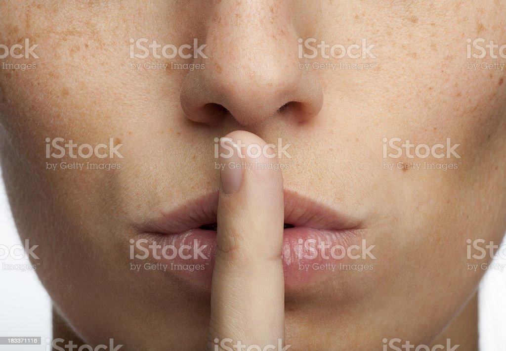 Shhhh! Quiet! stock photo