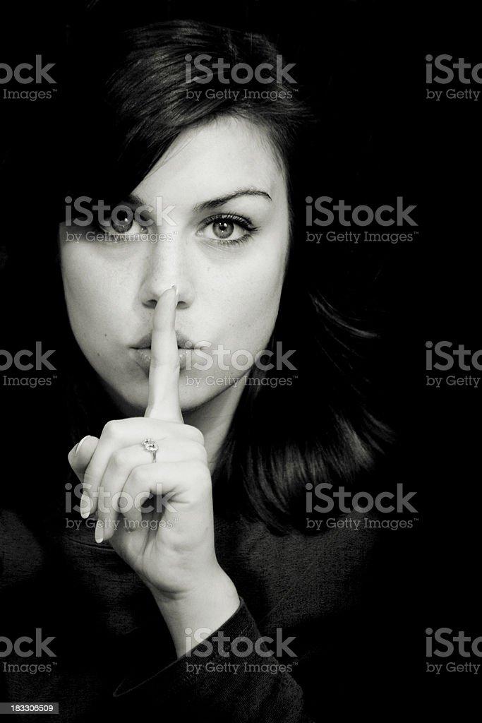 shhhh toned royalty-free stock photo