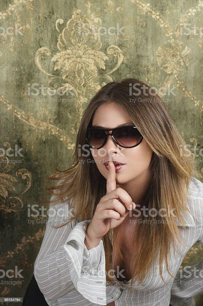 Shhhhhhh ! royalty-free stock photo