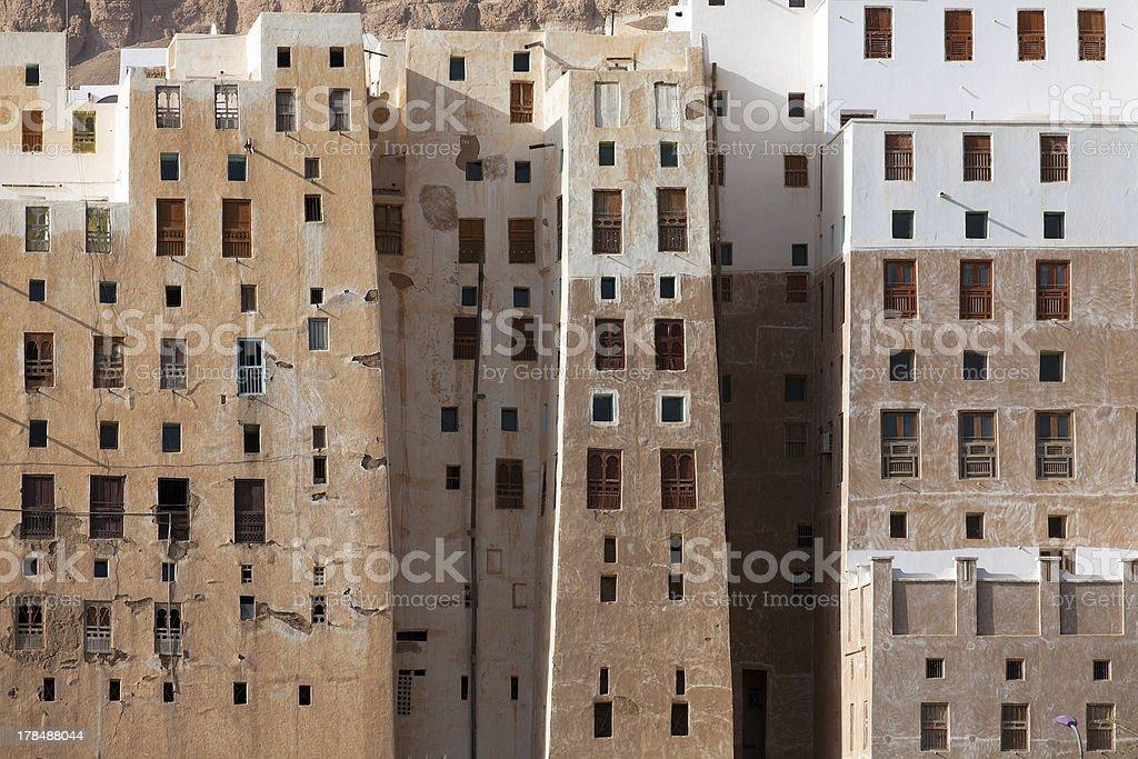 Shibam city, Yemen royalty-free stock photo