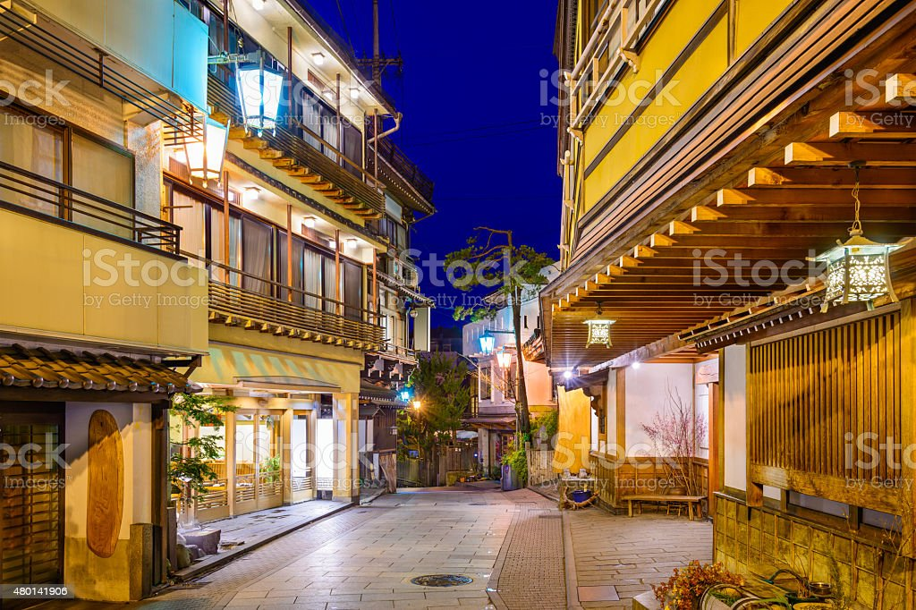 Shibu Onsen Japan stock photo