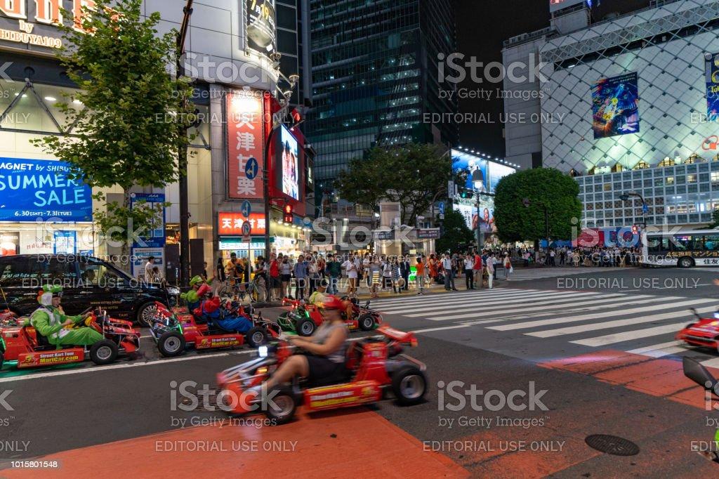 Shibuya Crossing Night Time Entertainment For