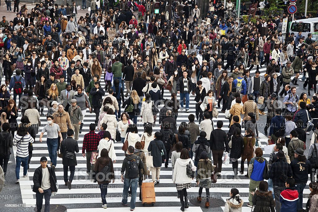 Shibuya Crossing - Royalty-free Asia Stock Photo