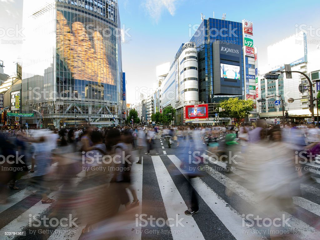 Shibuya crossing stock photo