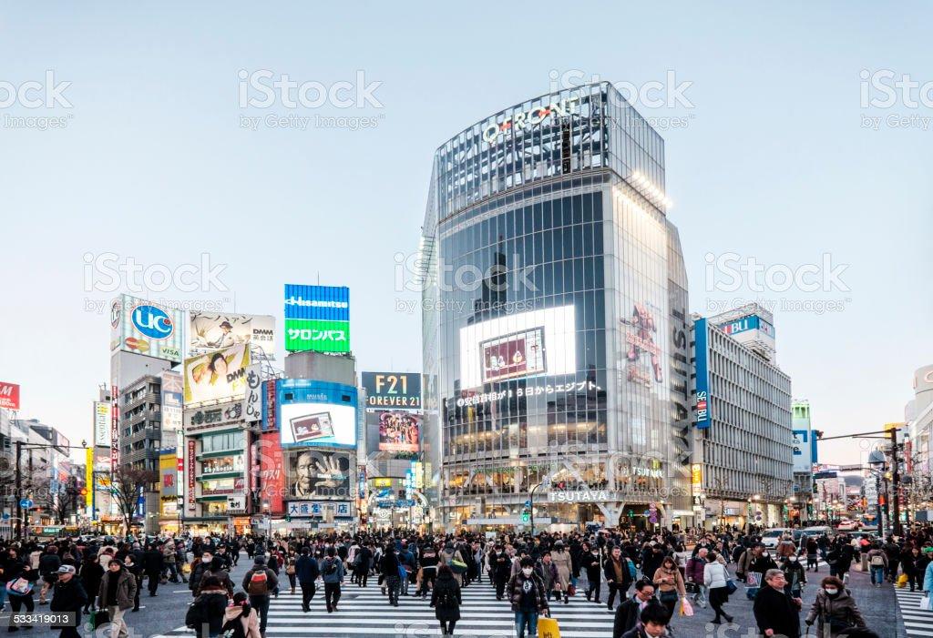 Shibuya Crossing royalty-free stock photo
