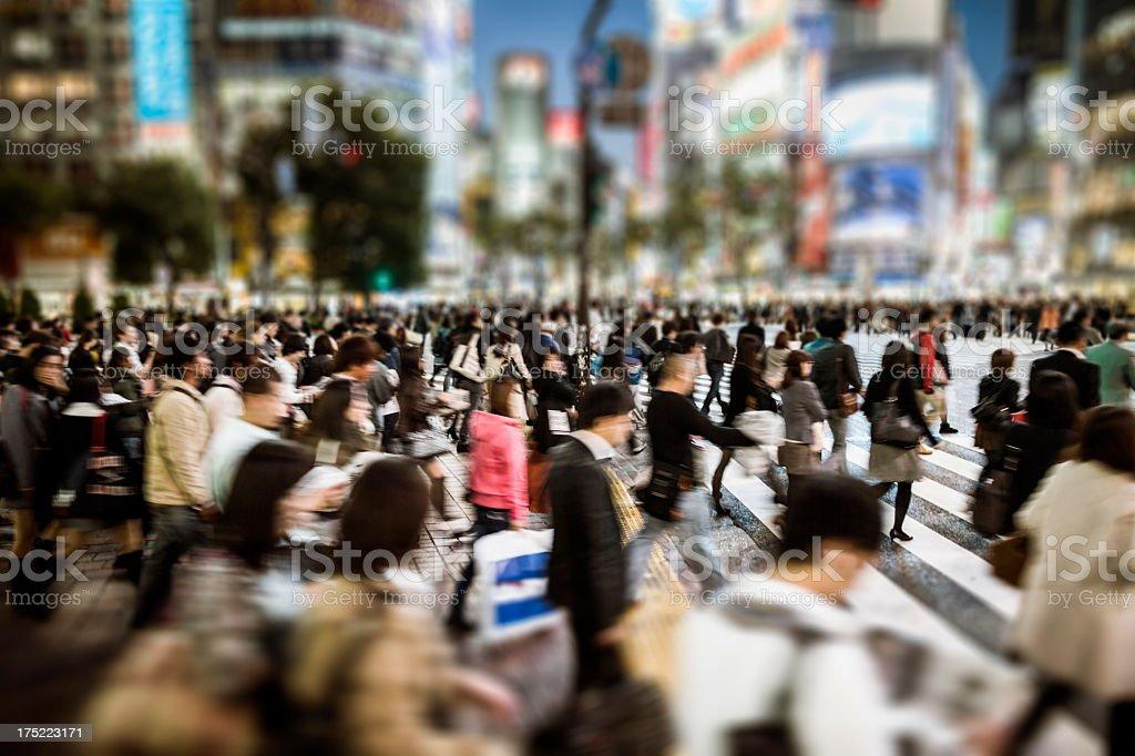 Shibuya Crossing Tokyo Japan royalty-free stock photo