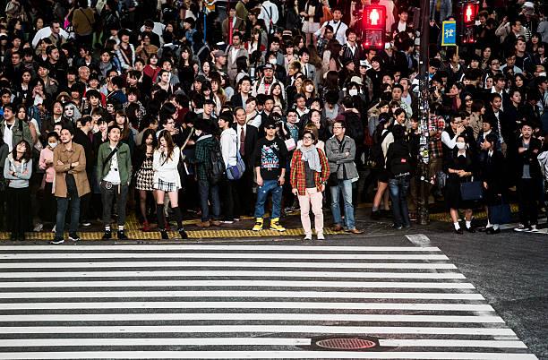 日本東京渋谷スクランブル交差点 ストックフォト