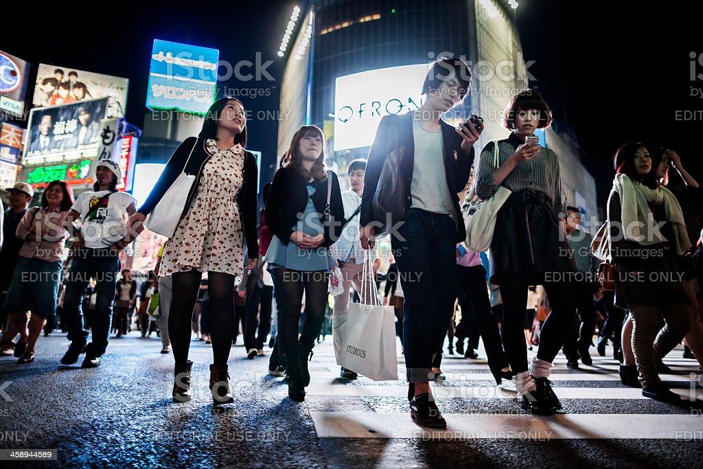 日本東京渋谷スクランブル交差点 ロイヤリティフリーストックフォト