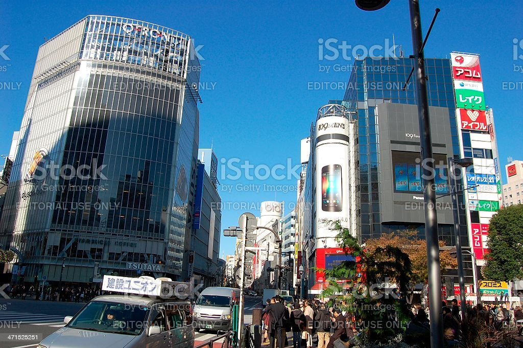 Shibuya crossing, Tokyo Japan royalty-free stock photo