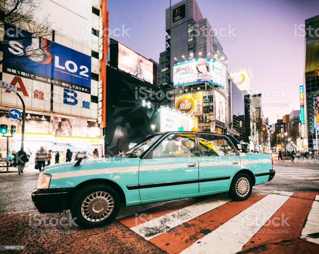 Shibuya Japan at Night stock photo