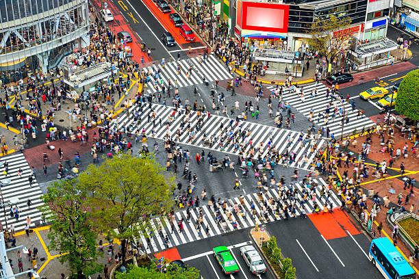 渋谷、東京,日本 - 横断する ストックフォトと画像