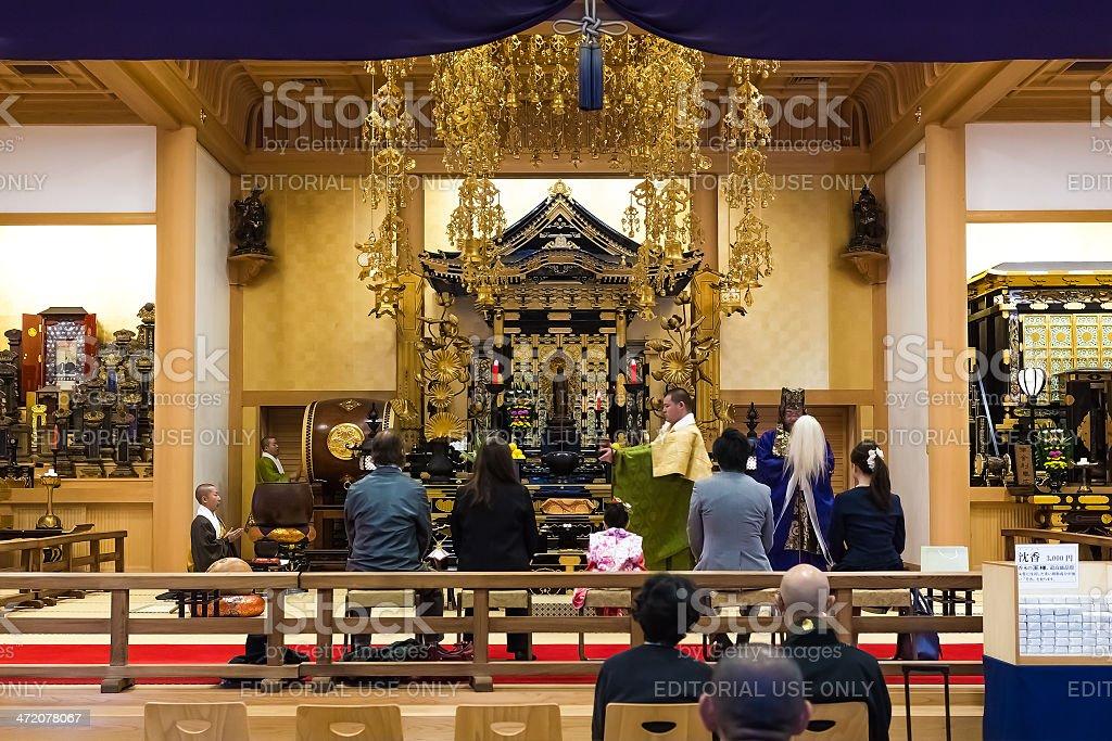 Shichi go san celebration in Japan stock photo