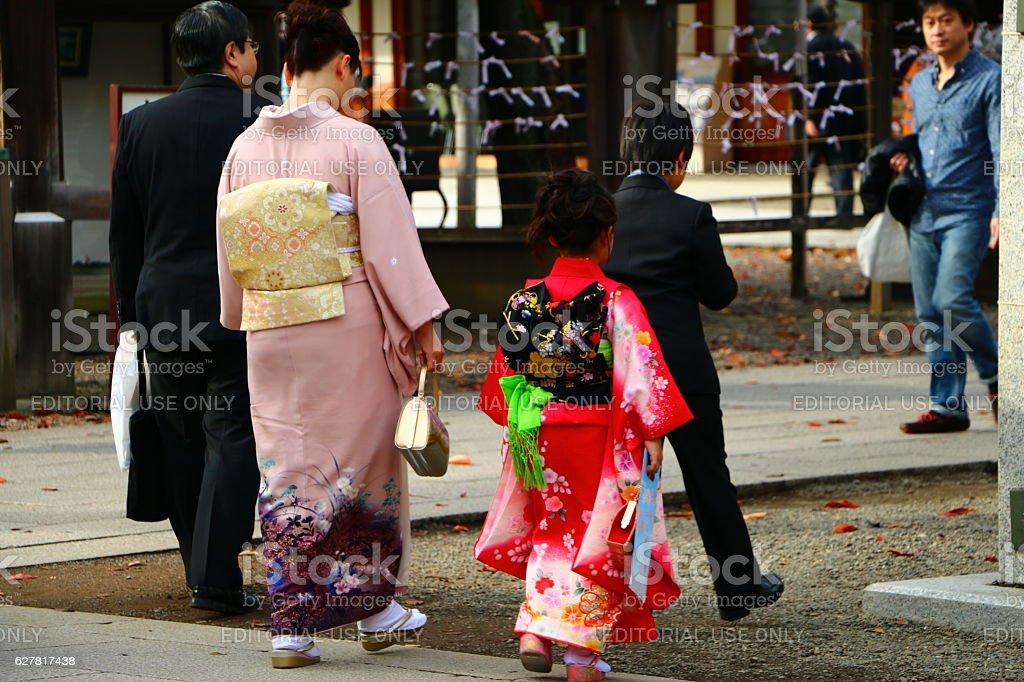 Shichi-go-san stock photo