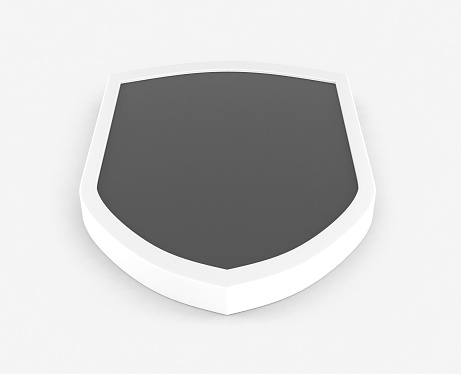 Shield 3D Template Isolated